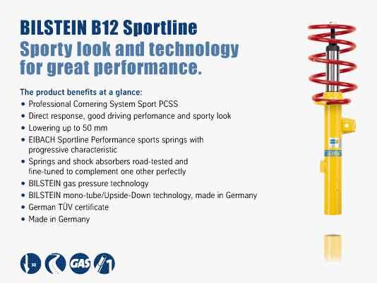 BMW 320i  1992 Bilstein B12 (Sportline) 46-000767